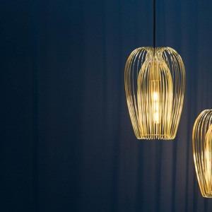 zavesna lampa lucid iron large zlata
