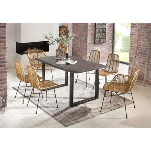 jidelni stul tables benches dark curve rectangle 140 80 77 cm 2