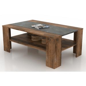 konferencni stolek pico tmavy beton vintage optika dreva