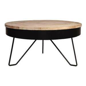 cerny odkladaci stolek s deskou z mangoveho dreva label51 saran 80 cm 2