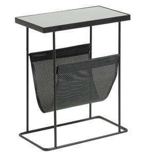 cerny skleneny odkladaci stolek laforma vogue 45 x 25 cm 2