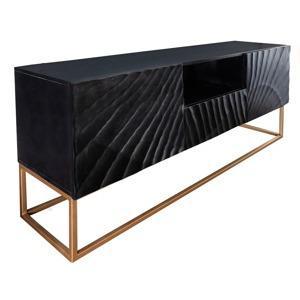 moebel living cerny masivni televizni stolek remus 160m40 cm