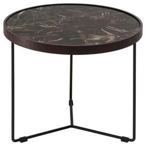 natuzzi konferencni stolek hneda cerna hneda cerna