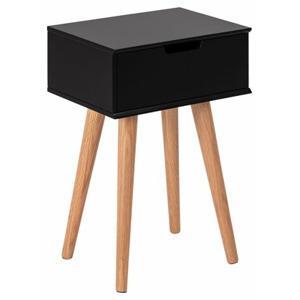 nocni stolek mitra cerna