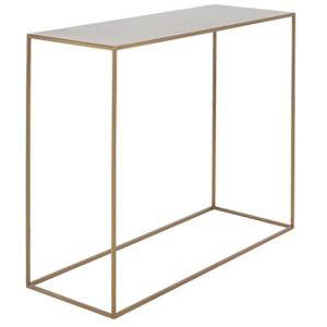 nordic design zlaty kovovy toaletni stolek moreno 100 x 35 cm