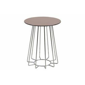 odkladaci stolek casia hneda