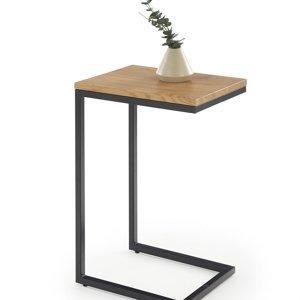 odkladaci stolek nisa dub zlaty cerna halmar 4